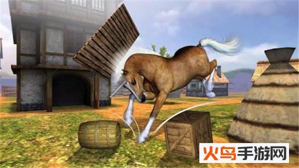 马匹模拟飞跃障碍手游截图0