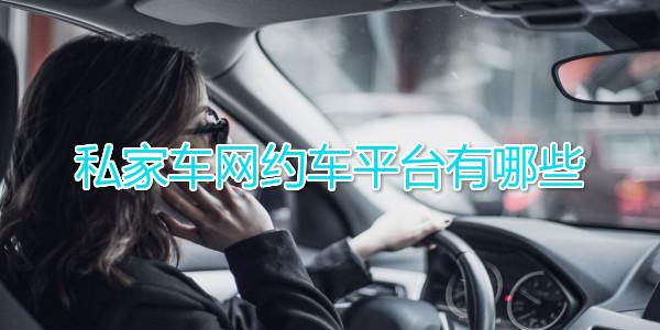 私家车网约车平台有哪些